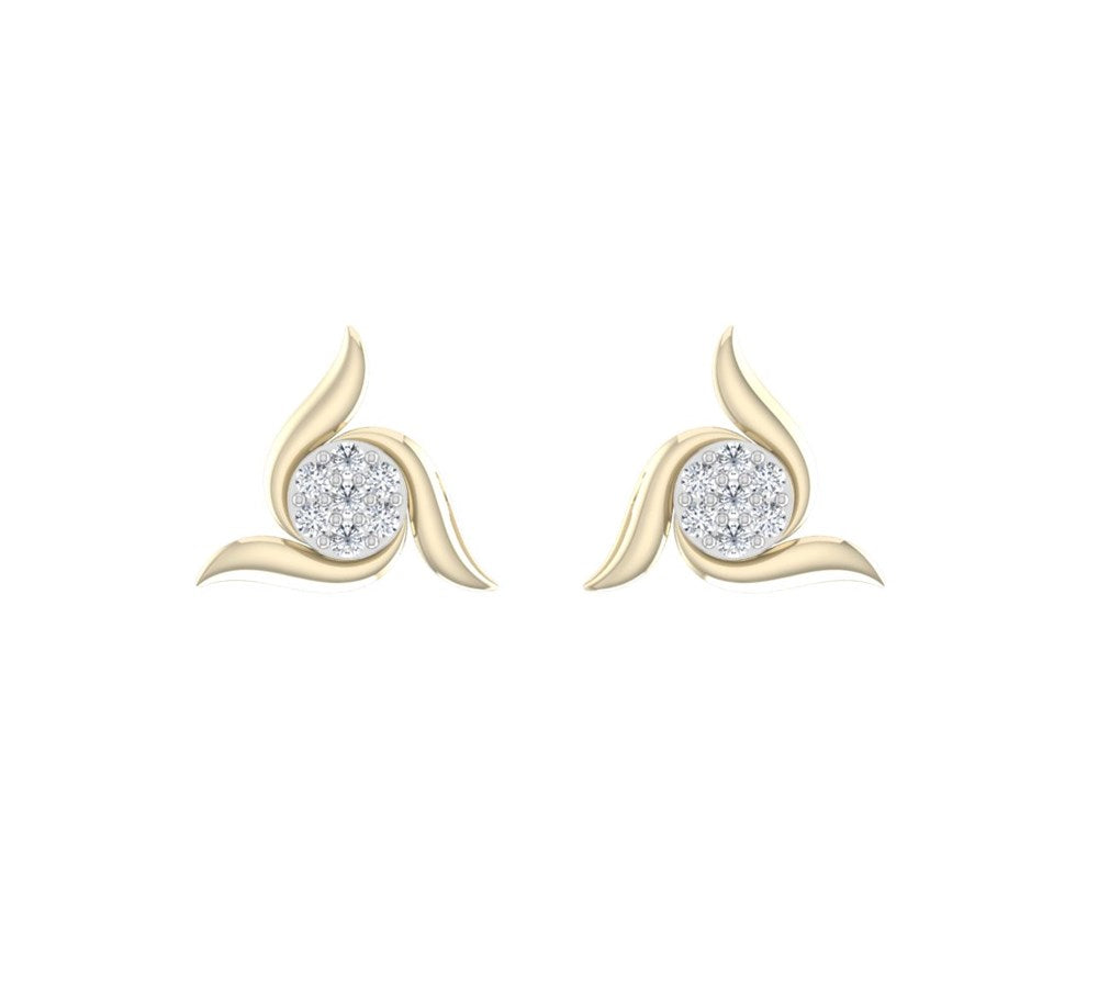carat craft alluring pave bar diamond earrings