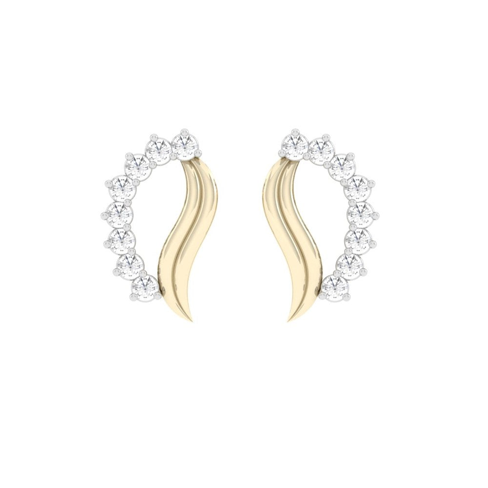 carat craft chic princess charm diamond earrings