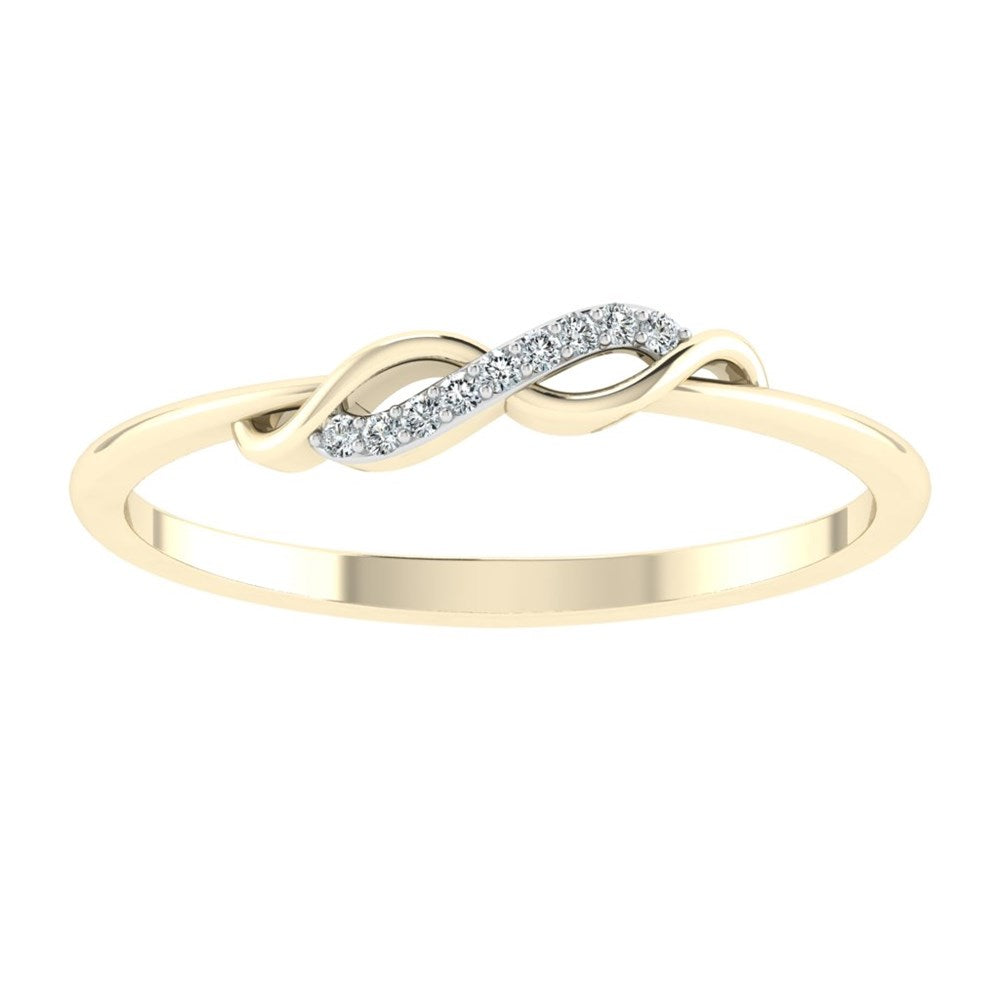 carat craft lover's knot diamond ring - us 6.5