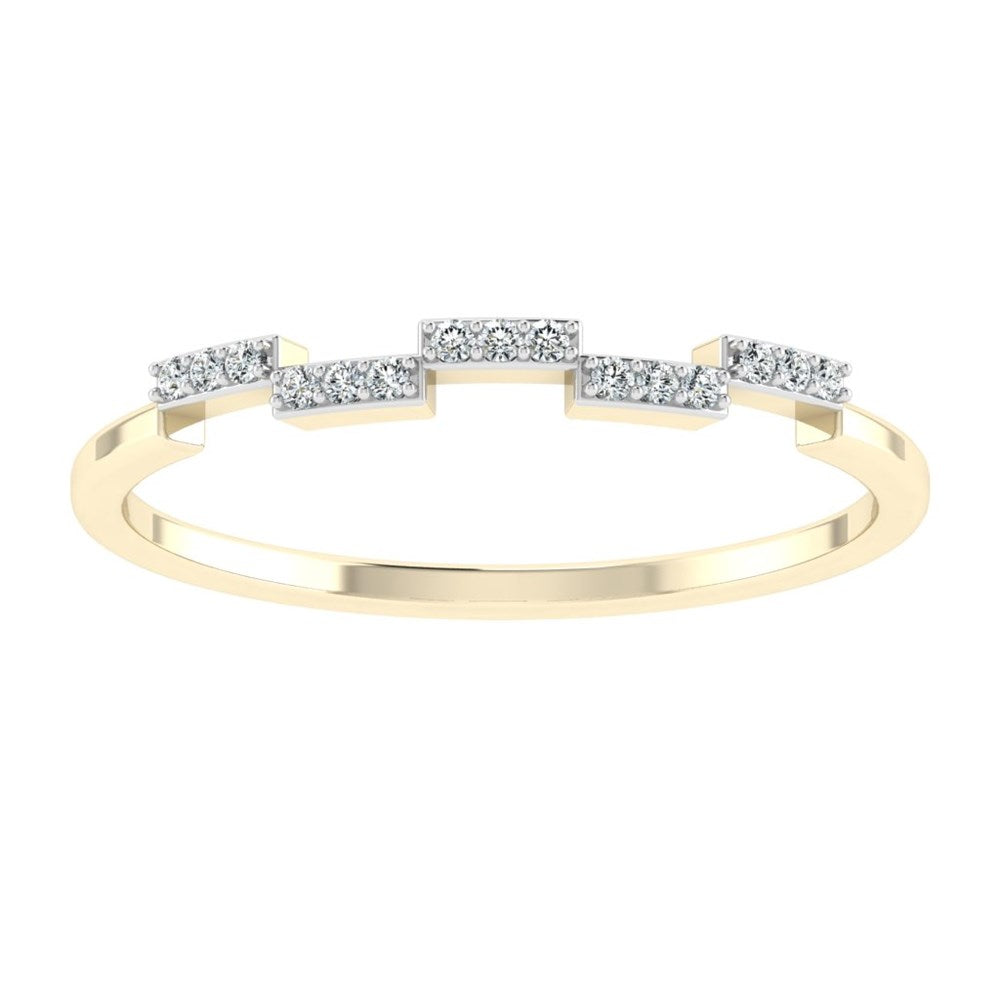 carat craft 18k gold dazzle diamond promise ring- us 7