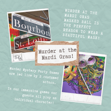Load image into Gallery viewer, Virtual Murder Mystery Party - 6 to 10 guests