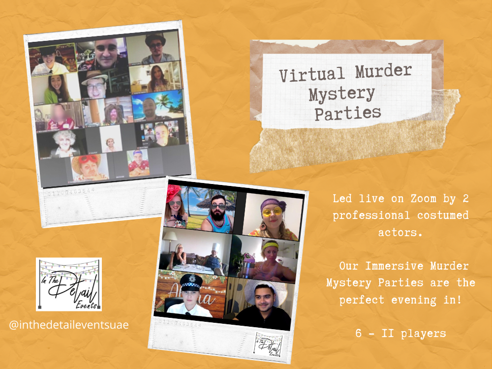 Virtual Murder Mystery Party - 6 to 10 guests