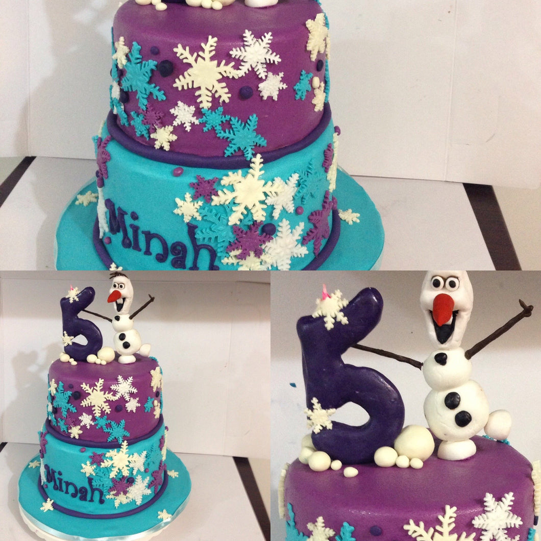 Frozen Themed Fifth birthday cake by Sweet Surprises