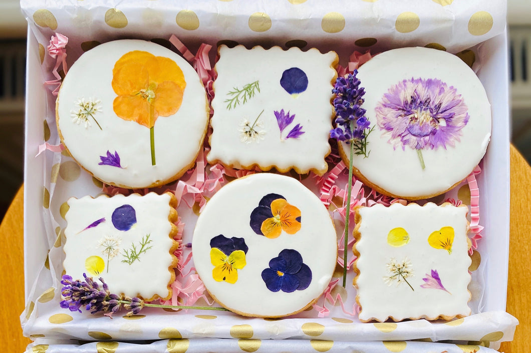 Edible Flower biscuits
