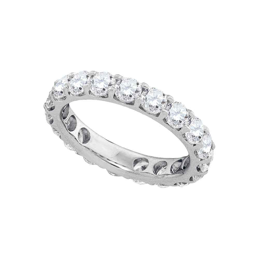 14kt White Gold Womens Round Diamond Wedding Band Ring 3 Cttw