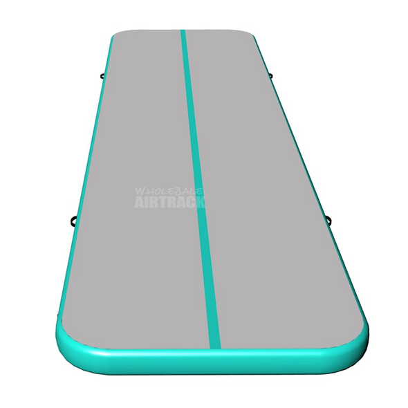 New gymnastic mats gray surface mint side air tumble tracks for sale