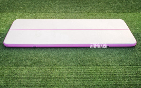 Unbelievable quality air tumble track gray surface purple side big gymnastics mats