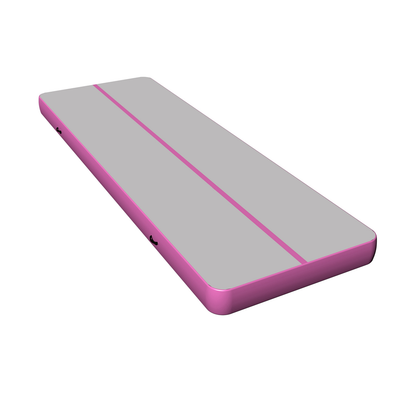 Pink air mat track gymnastics, blow up tumble track