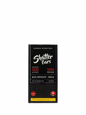 Milk Chocolate Shatter Bar (Indica / 1200MG)