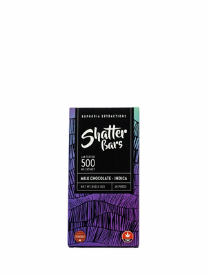 Milk Chocolate Shatter Bar (Indica / 500MG) | 2 FOR 70$