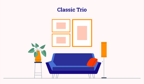 gallery wall - trio layout
