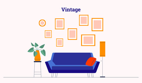 gallery wall - vintage layout