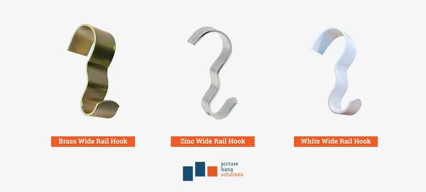 Wide Picture Rail Hooks