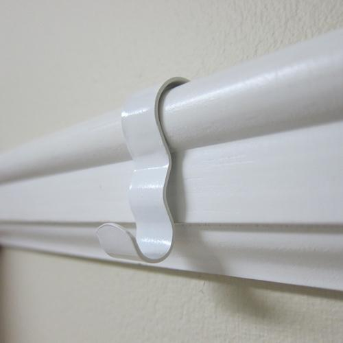 wide picture rail hook on ogee molding