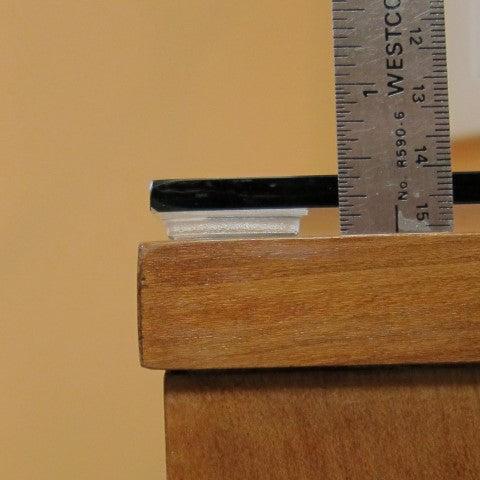 "1 Inch Square .1875"" Height Clear Adhesive Rubber Feet"