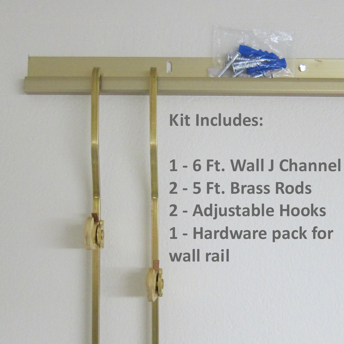 Brass Gallery Rod Kit