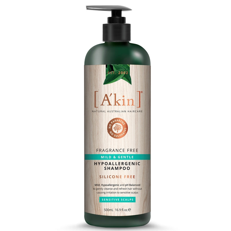 A'kin Fragrance Free Mild & Gentle Shampoo (for Sensitive Scalps)