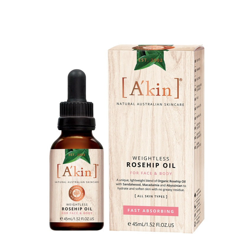 A'kin Weightless Rosehip Oil for Face & Body