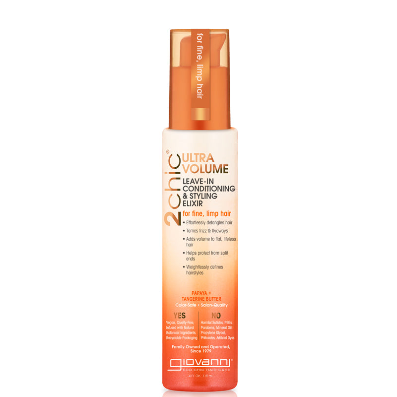 Giovanni 2Chic Ultra-Volume Leave-In Conditioning & Styling Elixir