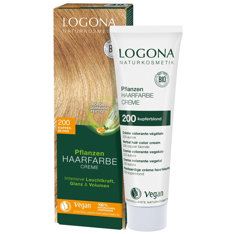 Logona Herbal Hair Colour Cream Copper Blonde