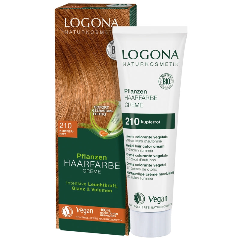 Logona Herbal Hair Colour Cream Copper Red