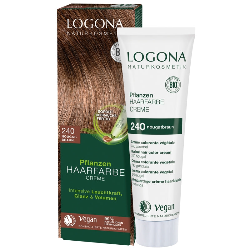 Logona Herbal Hair Colour Cream Nougat Brown
