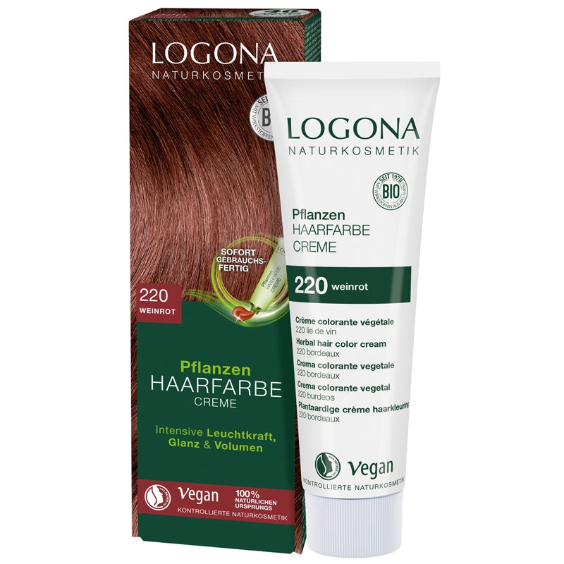 Logona Herbal Hair Colour Cream Wine Red