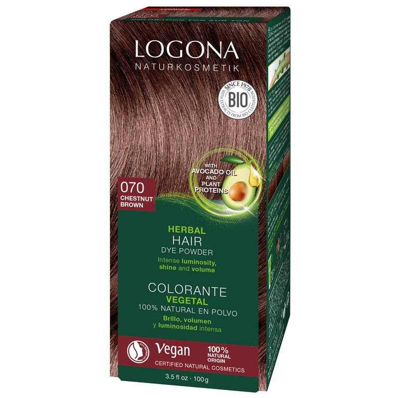 Logona Herbal Hair Colour Powder Chestnut Brown