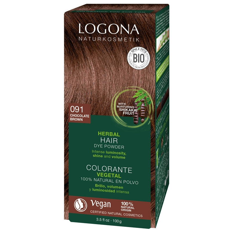 Logona Herbal Hair Colour Powder Chocolate Brown