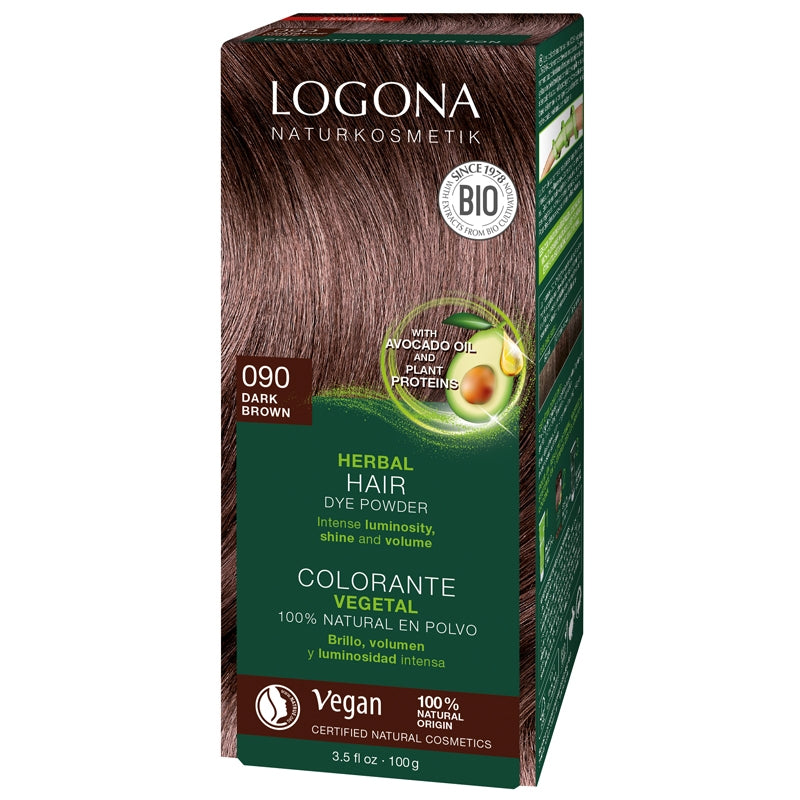 Logona Herbal Hair Colour Powder Dark Brown