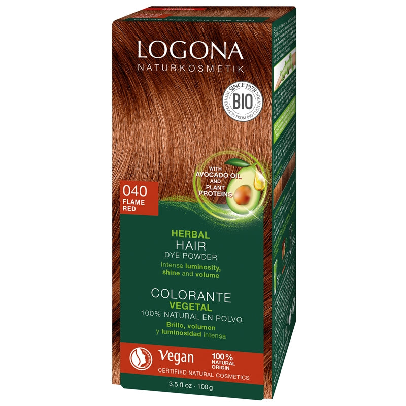 Logona Herbal Hair Colour Powder Flame Red