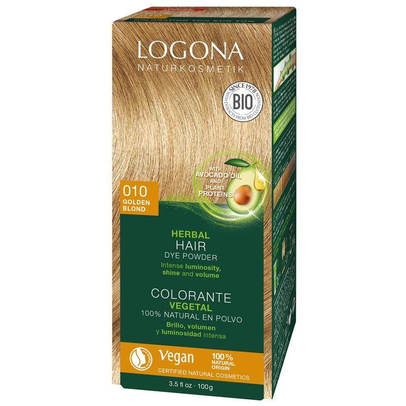Logona Herbal Hair Colour Powder Golden Blonde