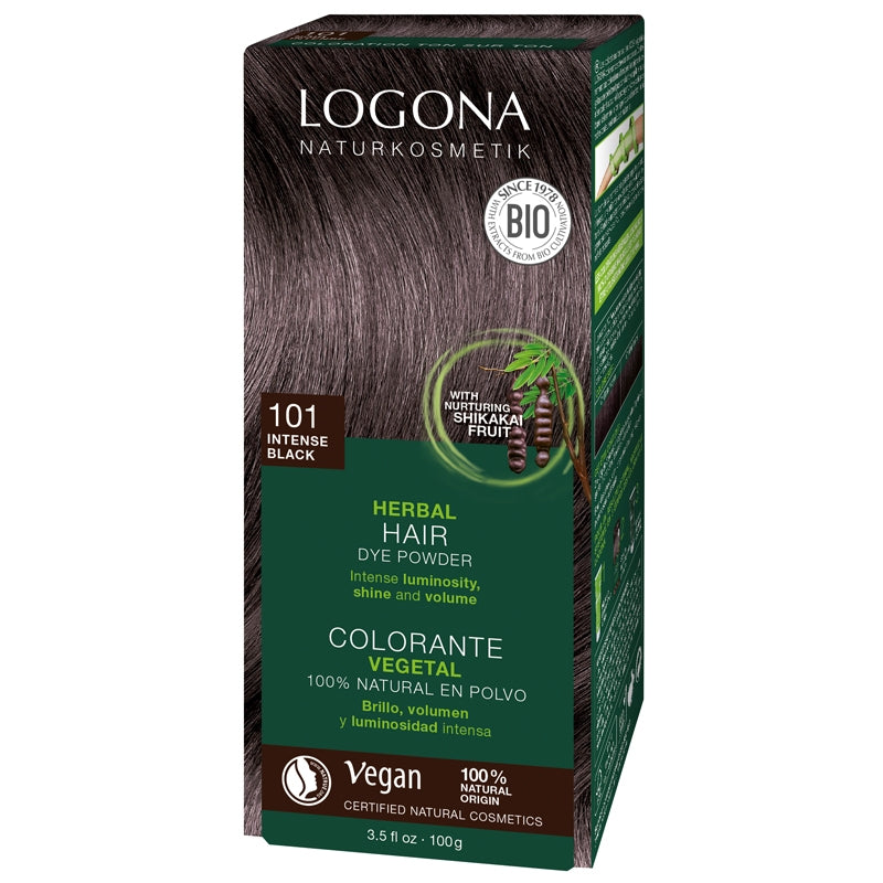 Logona Herbal Hair Colour Powder Intense Black