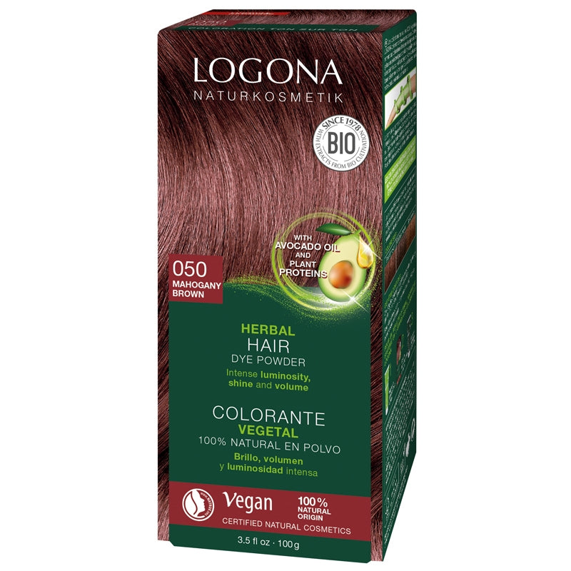 Logona Herbal Hair Colour Powder Mahogany Brown