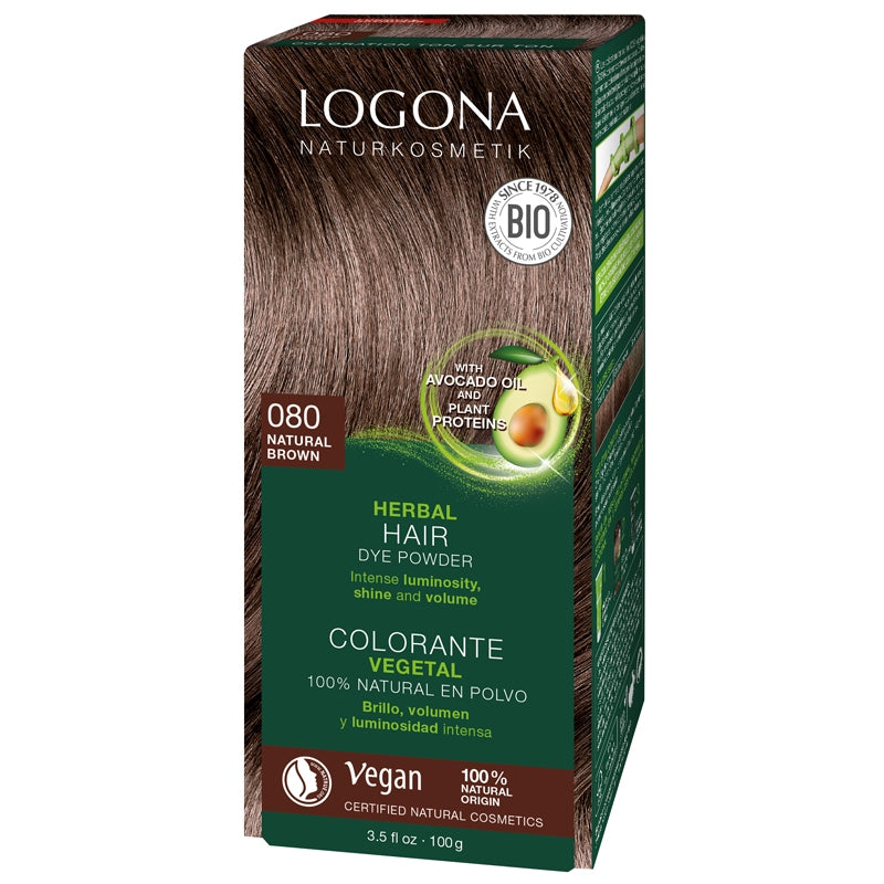 Logona Herbal Hair Colour Powder Natural Brown