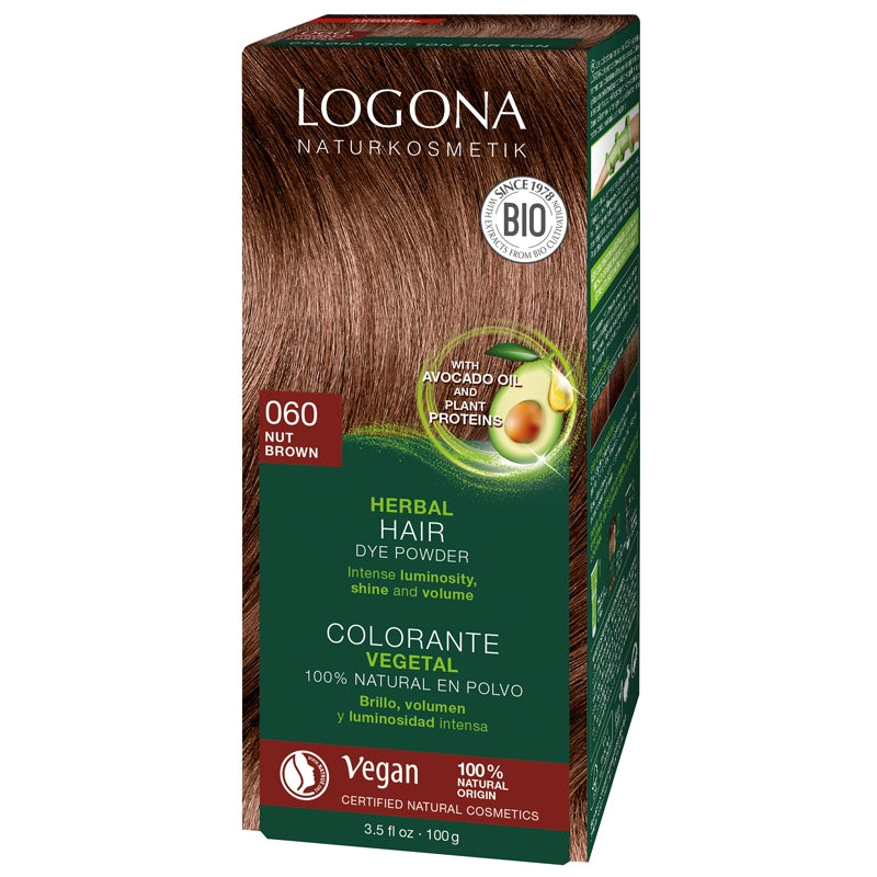 Logona Herbal Hair Colour Powder Nut Brown