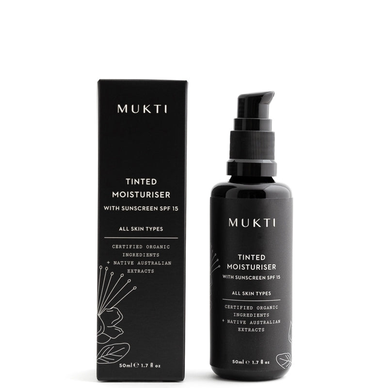 Mukti Organics Tinted Moisturiser with Sunscreen SPF15