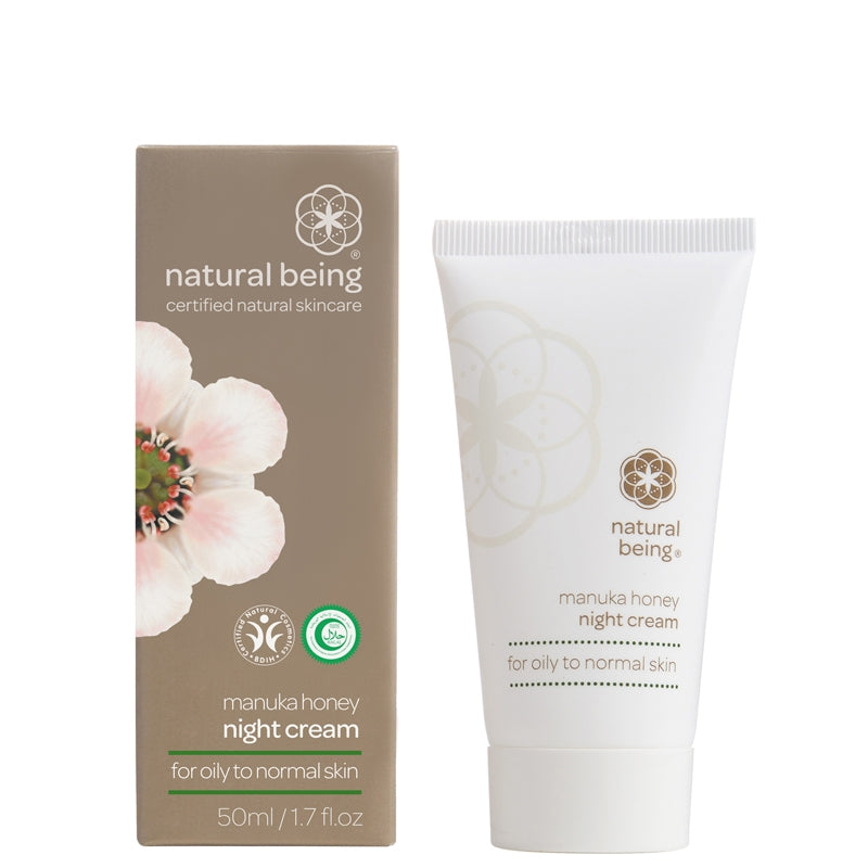 Natural Being Manuka Honey Night Cream for Oily to Normal Skin