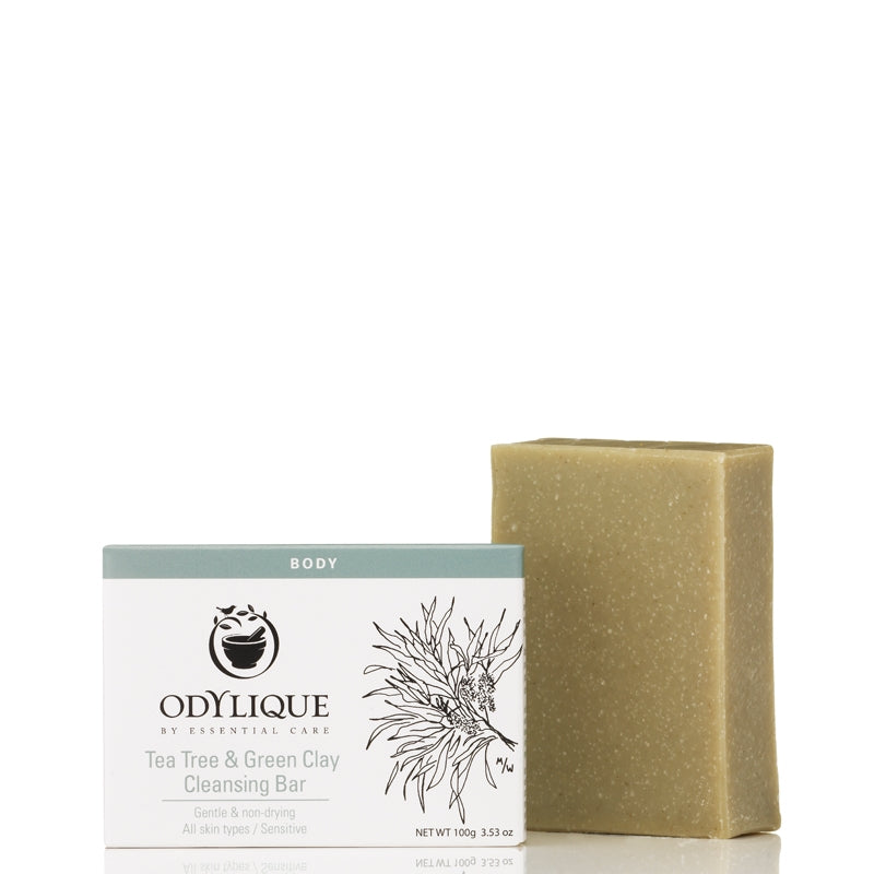 Odylique by Essential Care Tea Tree & Green Clay Cleansing Bar