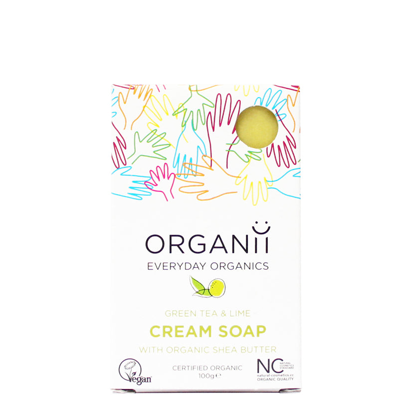 Organii Green Tea & Lime Cream Soap Bar