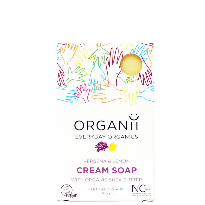 Organii Verbena & Lemon Cream Soap Bar