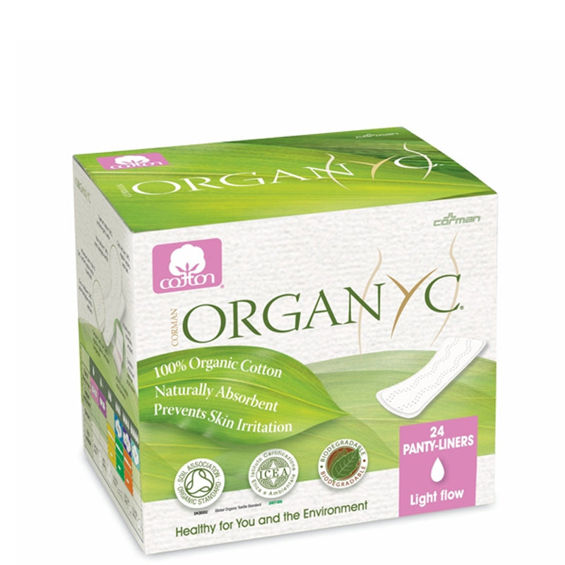 Organyc Organic Cotton Panty Liners Light Flow Individually Wrapped