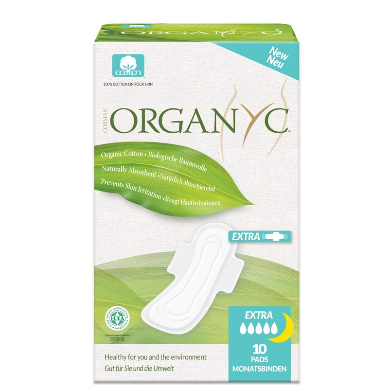 Organyc Organic Cotton Sanitary Pads with Wings Extra