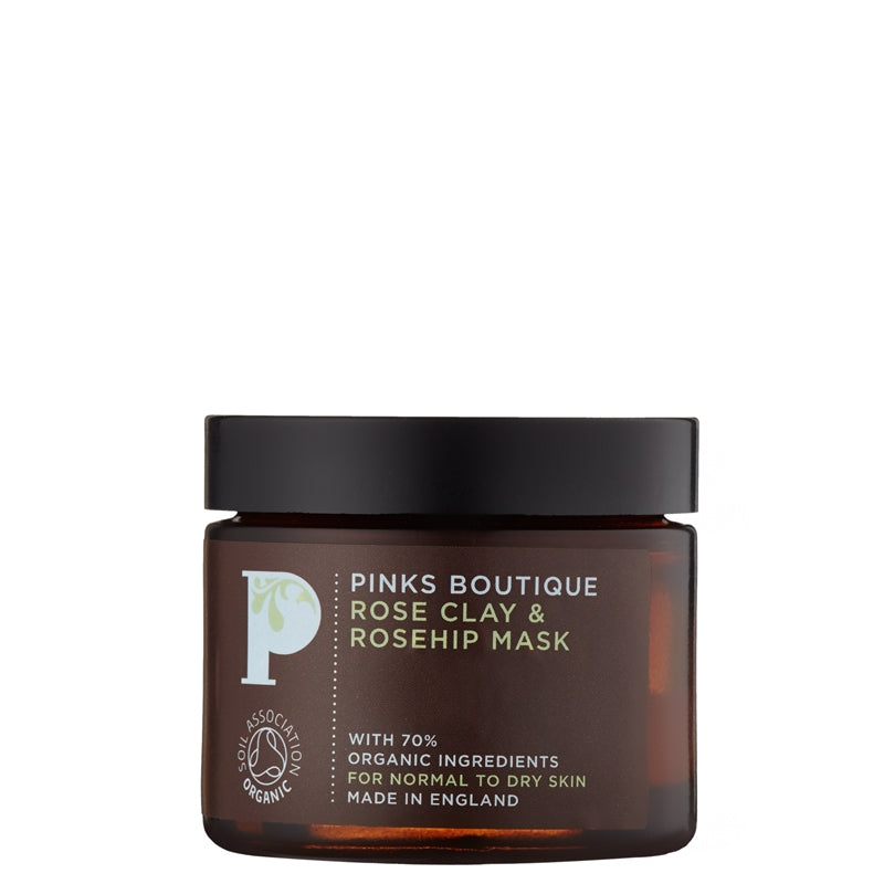 Pinks Boutique Rose Clay & Rosehip Mask