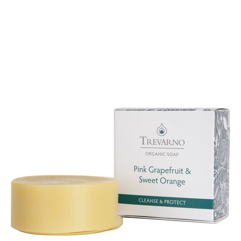 Trevarno Organic Pink Grapefruit & Sweet Orange Soap