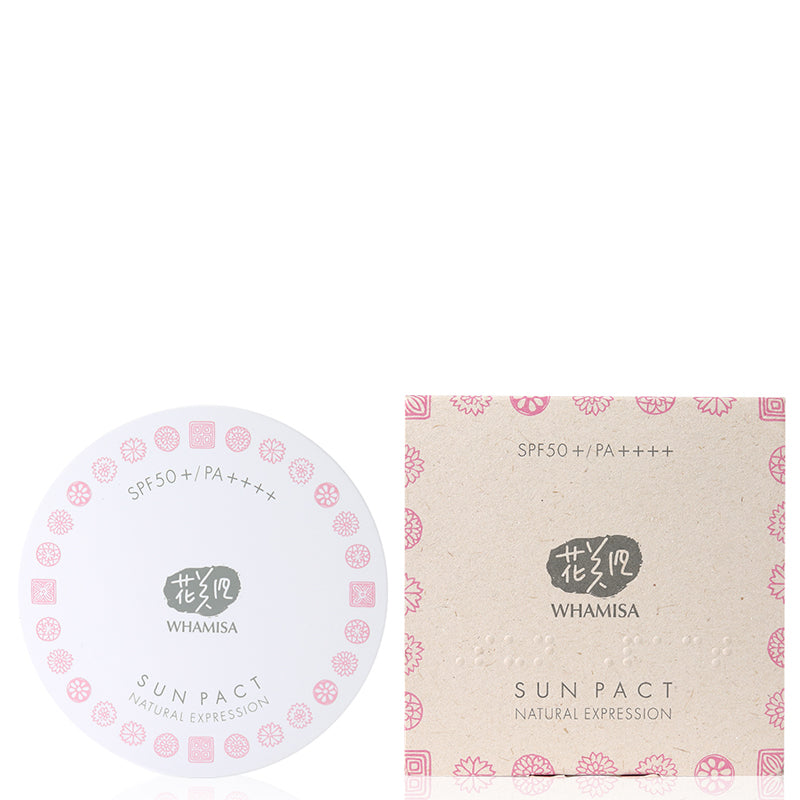 Whamisa Organic Flowers Sun Pact Natural Expression SPF50