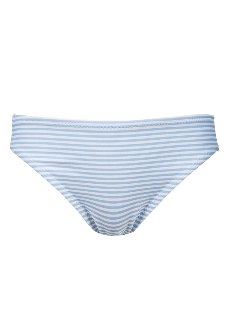 BLUE STRIPES BOTTOM RUFFLES