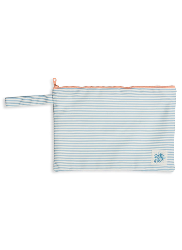 BLUE STRIPES POUCH LARGE