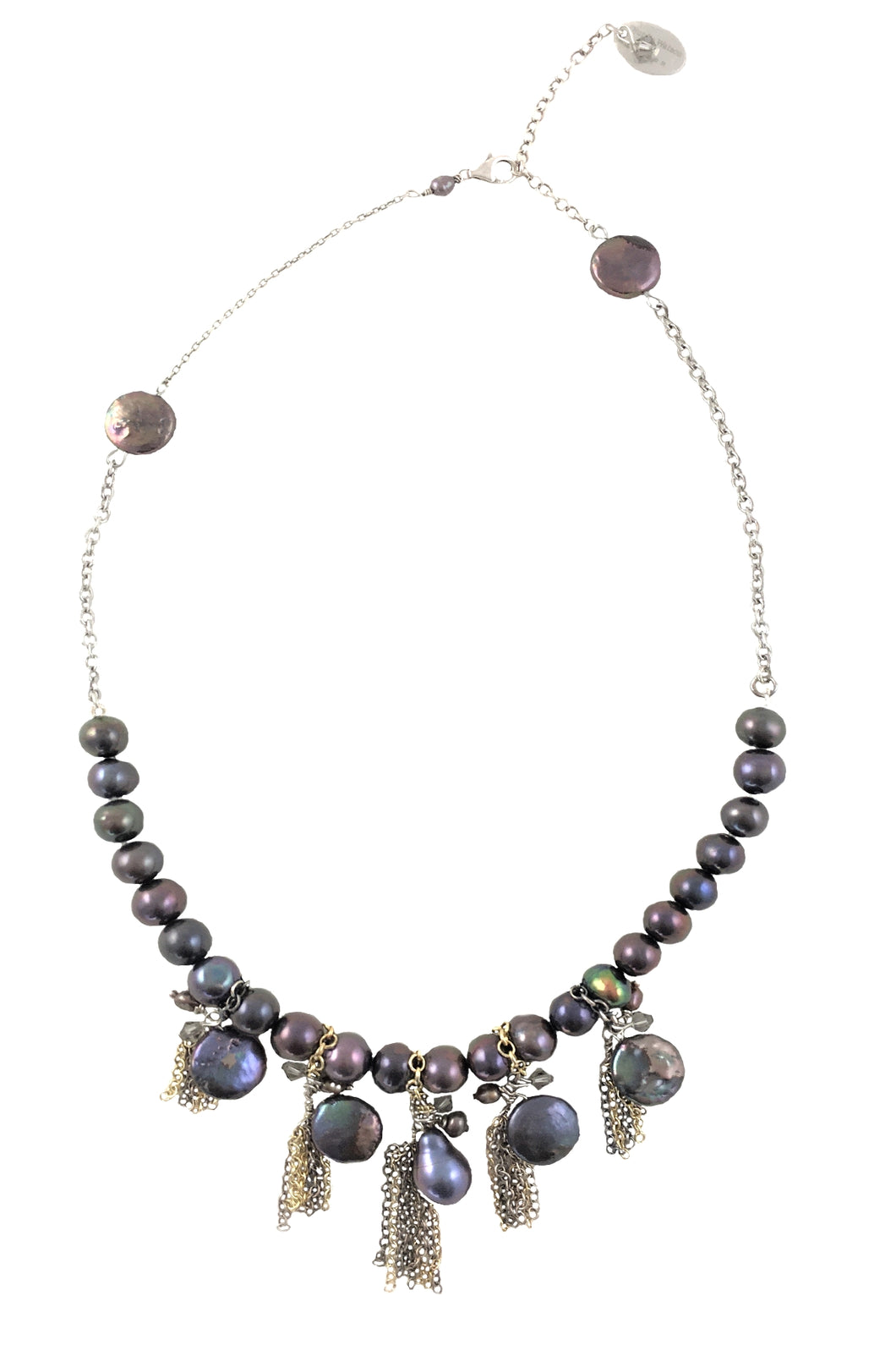 Barcelona Freshwater Pearls Crystal Necklace