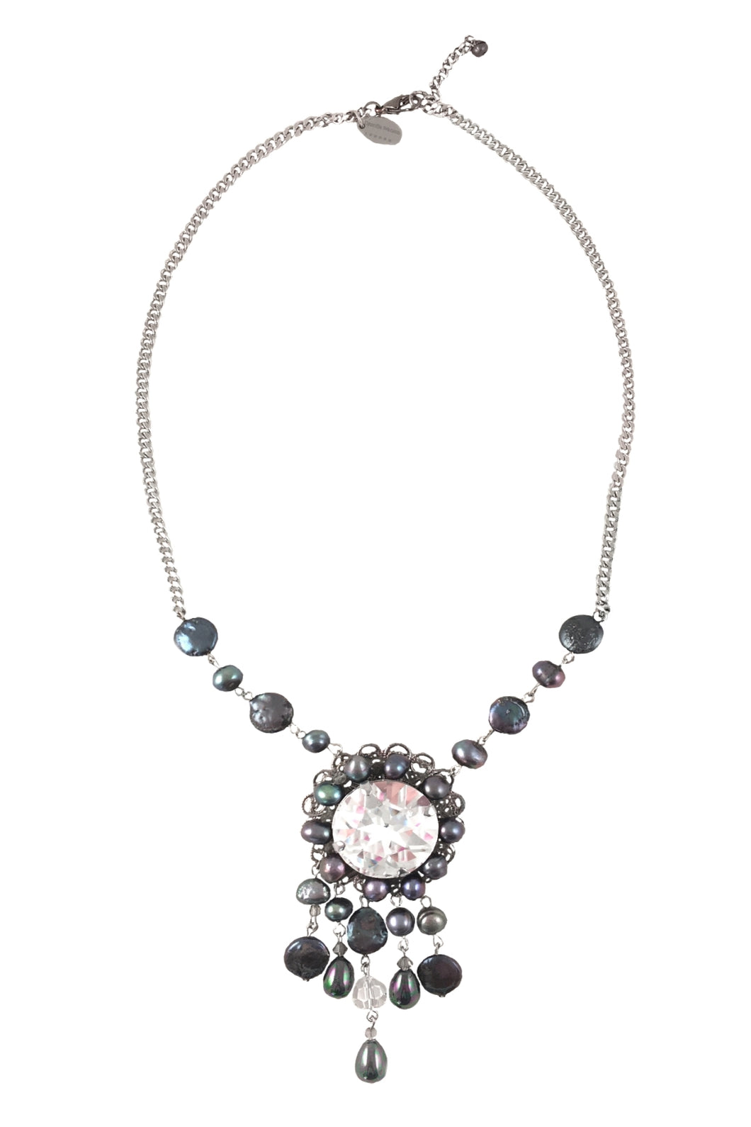 Bali Pearls and Swarovski Crystals Necklace